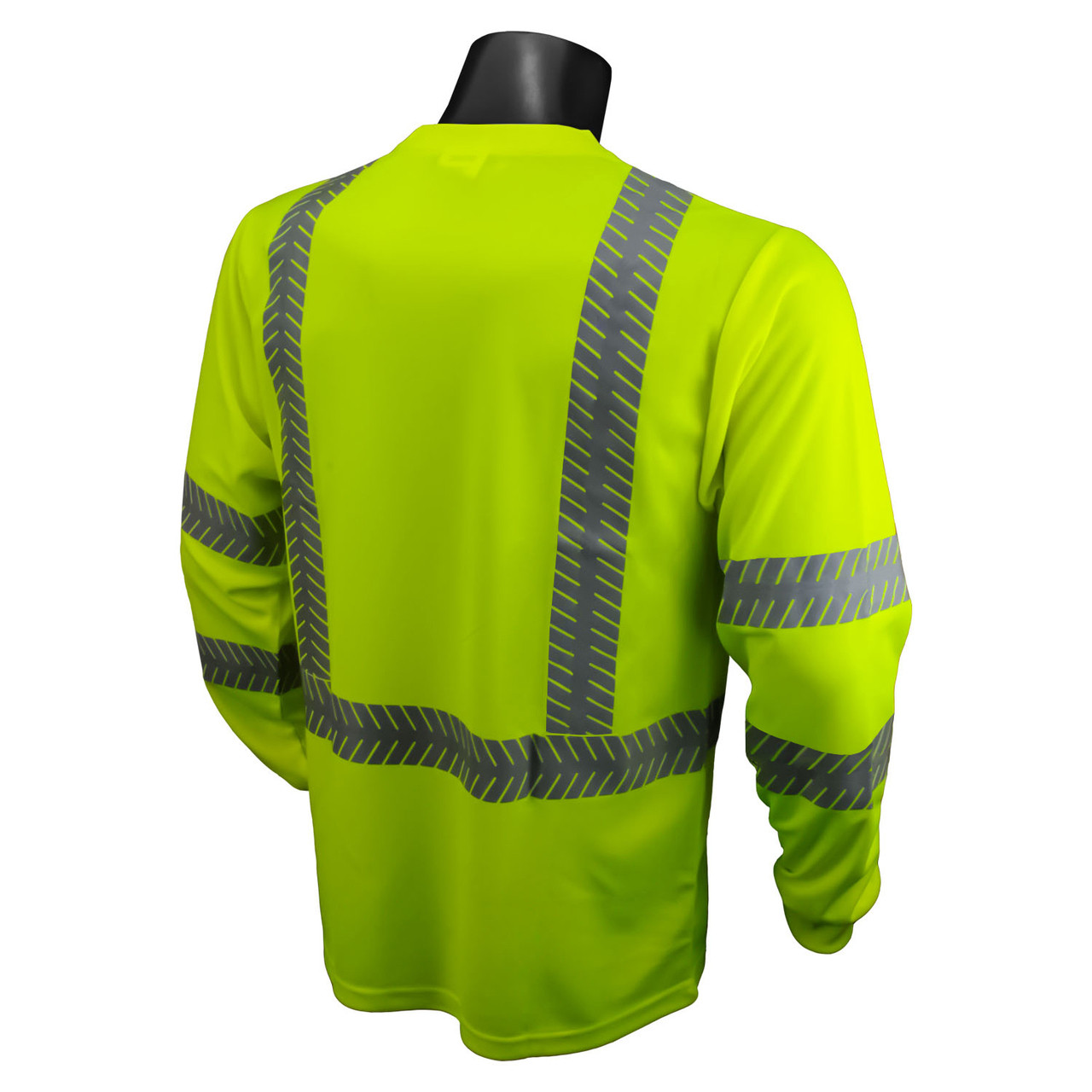 Hi-Vis Green Class 3 Safety T-Shirt with RAD-SHADE® UV Protection *Custom Printing Available*