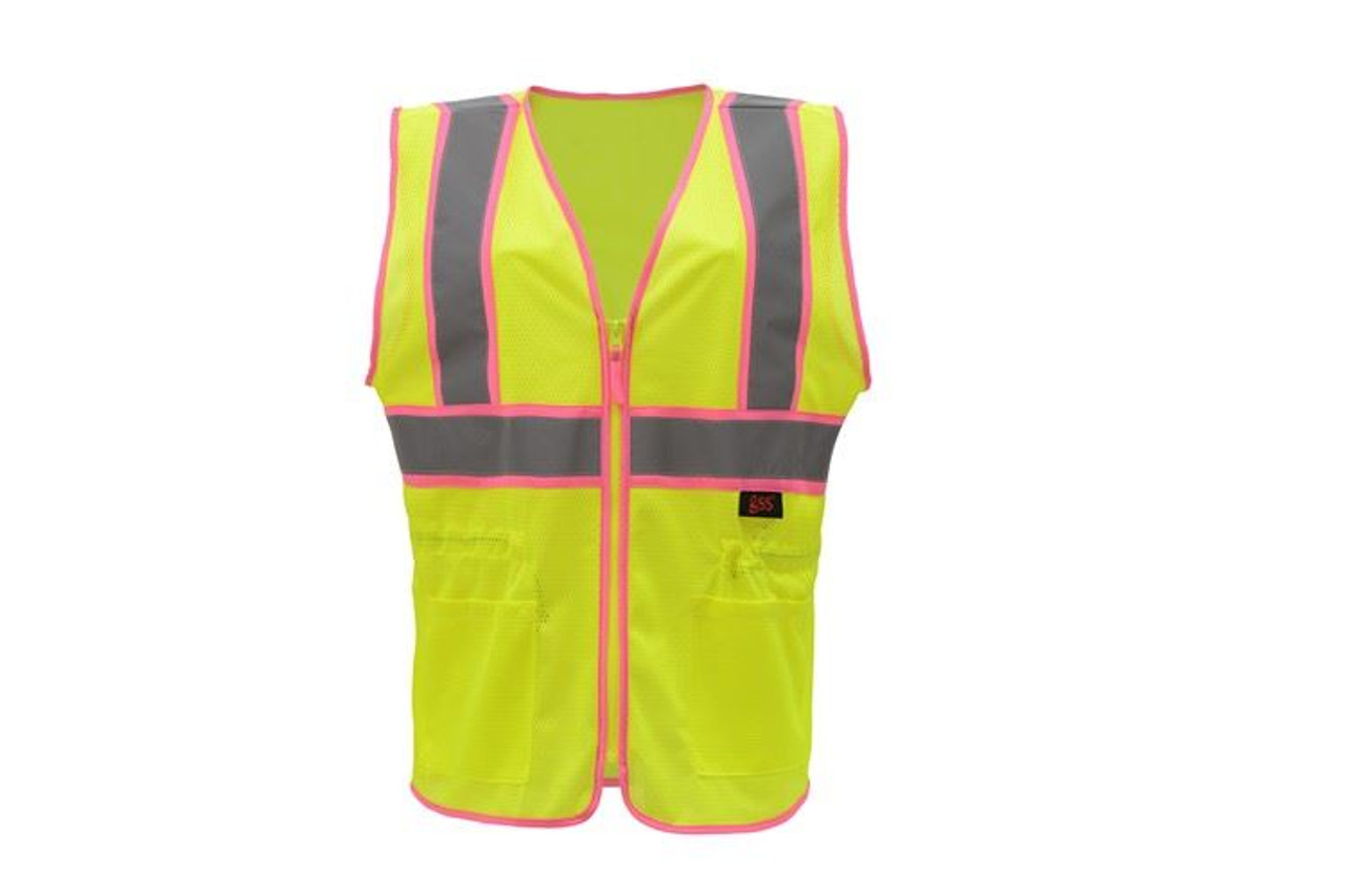 Safety Green Ladies Safety Vest Class 2
