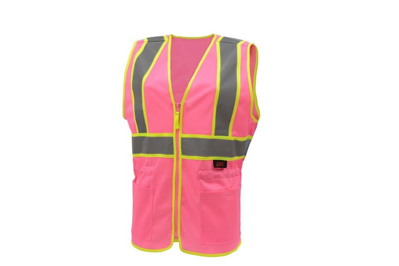 Safety Pink Ladies Safety Vest