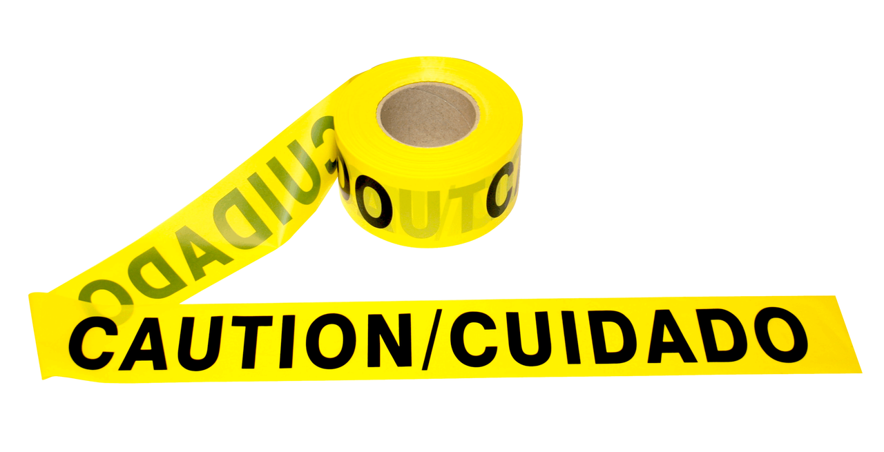 Bilingual CAUTION /  CUIDADO Tape