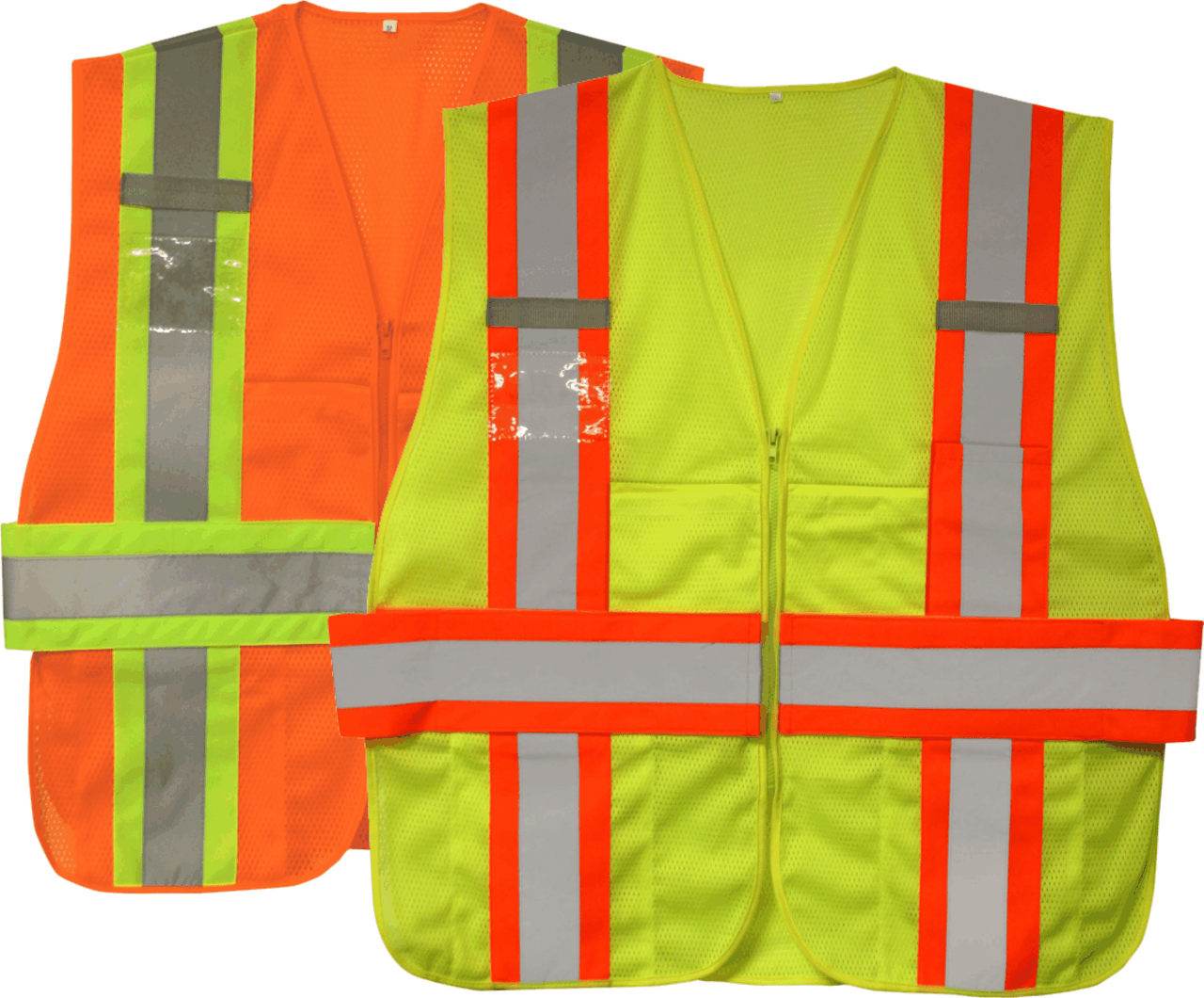 Two Tone Class 2 Type R expandable Safety Vest with Zipper Closure