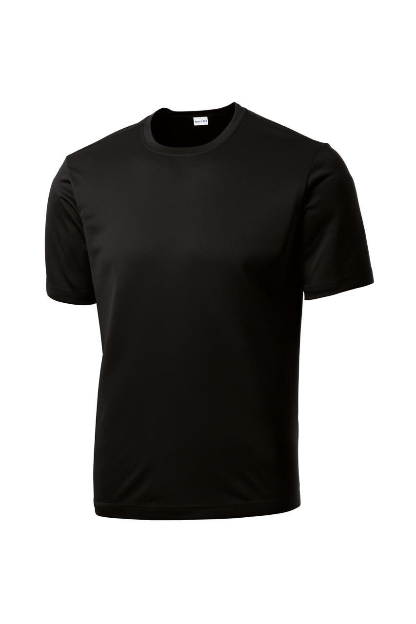 Black Moisture Wicking 100% Polyester Tee