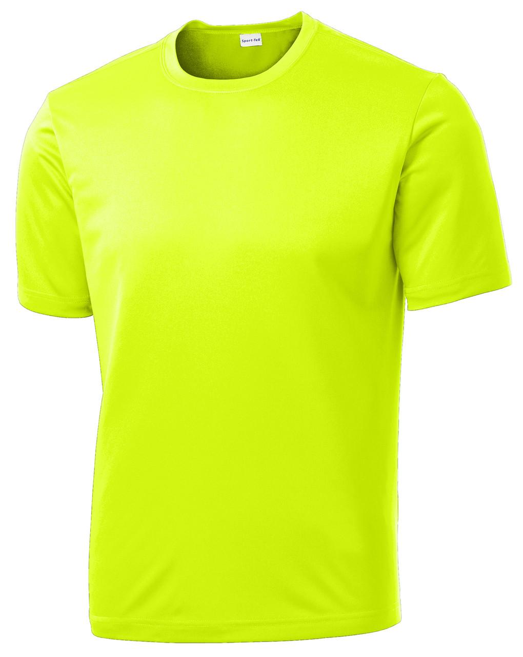 Neon Yellow Performance 100% Polyester T-Shirt