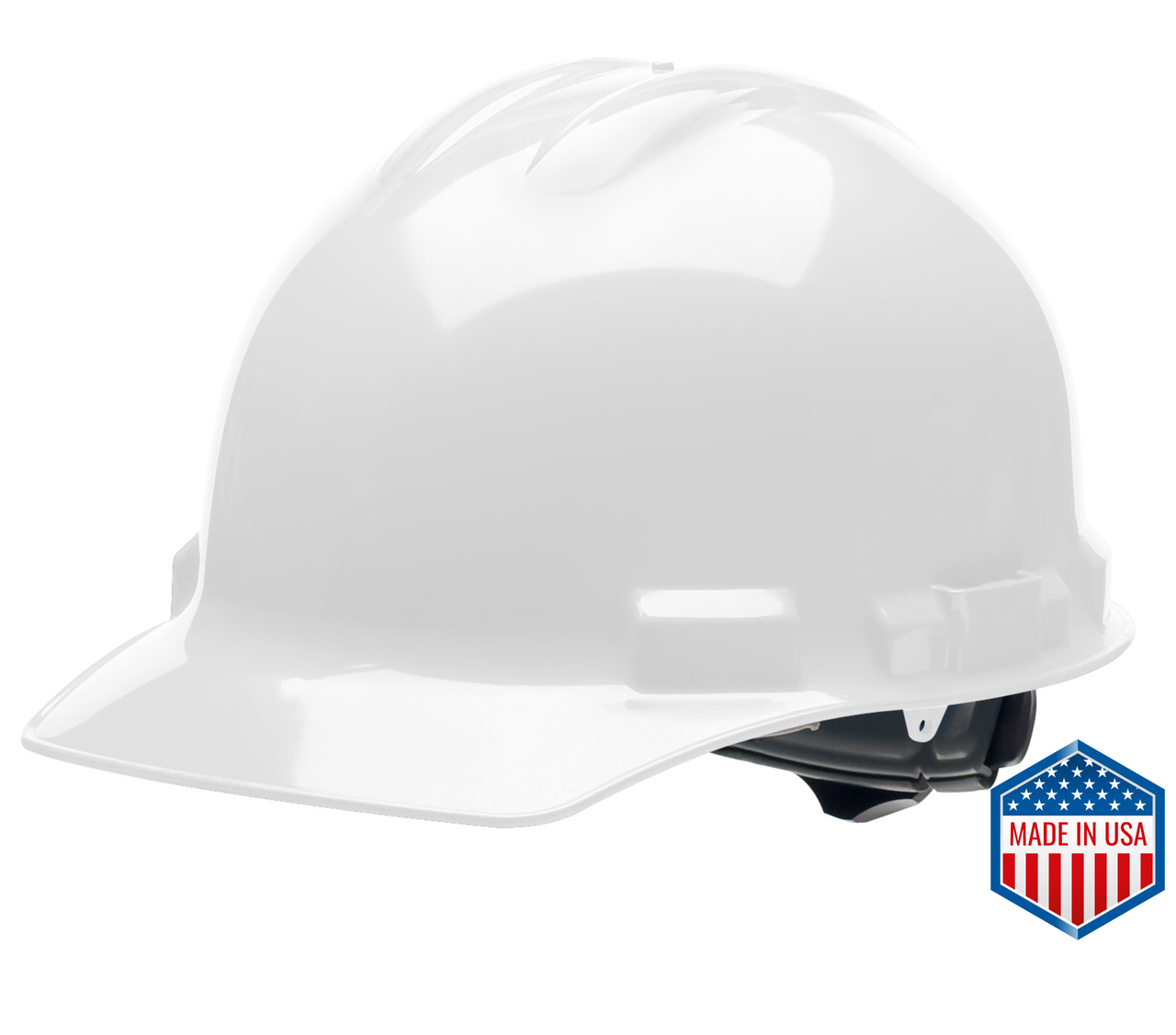 White Hard Hat Helmet Style Made in the USA