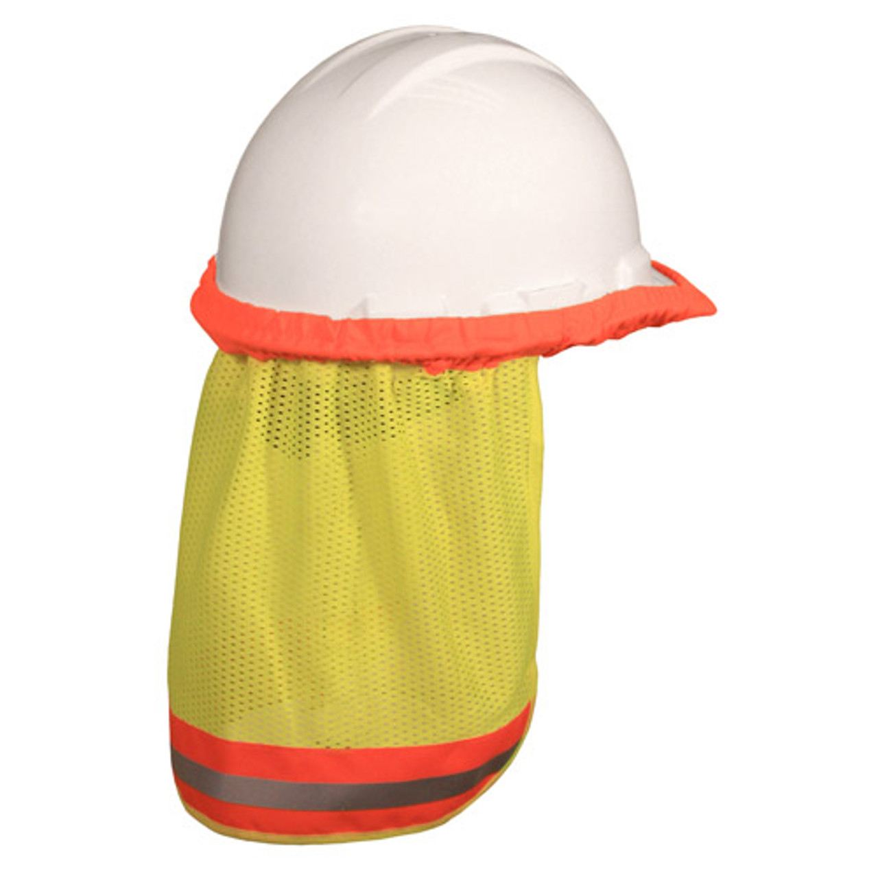 Safety Green Hard Hat Neck Shade