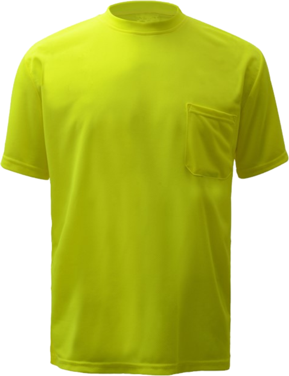 Safety Green  T Shirt with Pocket Polyester