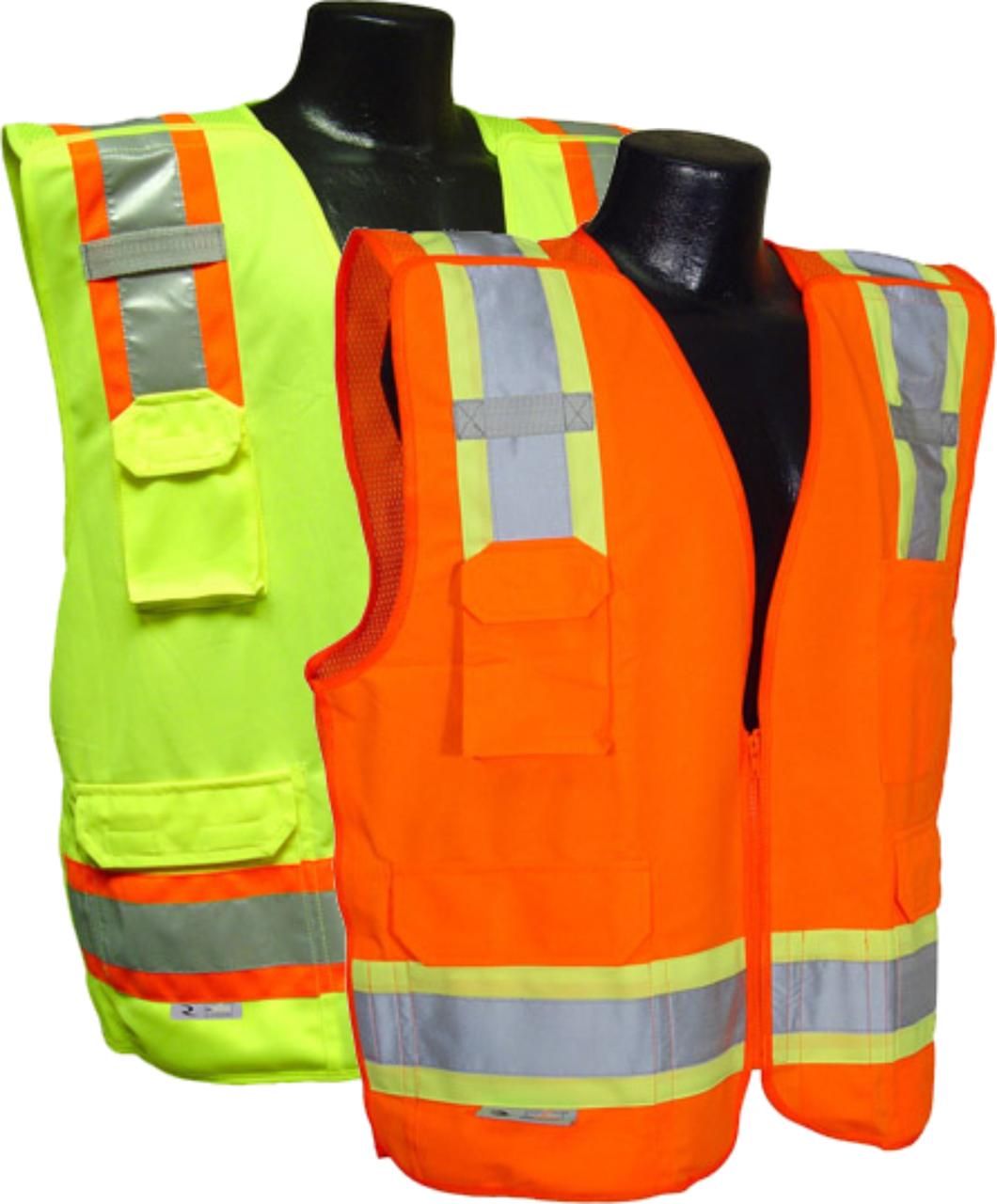 Surveyor 5 point breakaway safety vest | Type R / Class 2 | ANSI/ISEA 107-2015