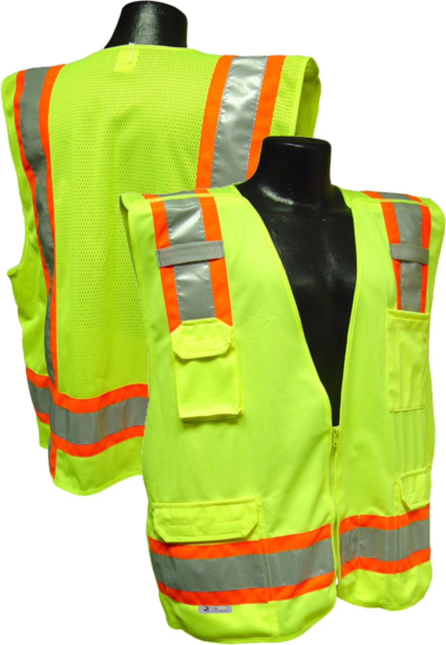 Safety Green class 2 Safety Vest 5 point breakaway
