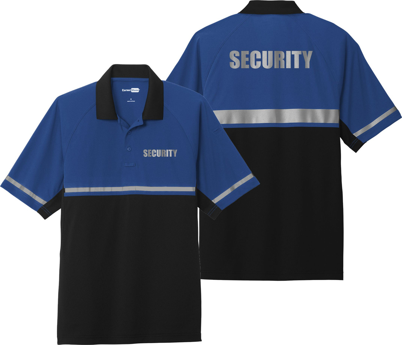 Royal Blue Black Two Tone Security Polo Shirt