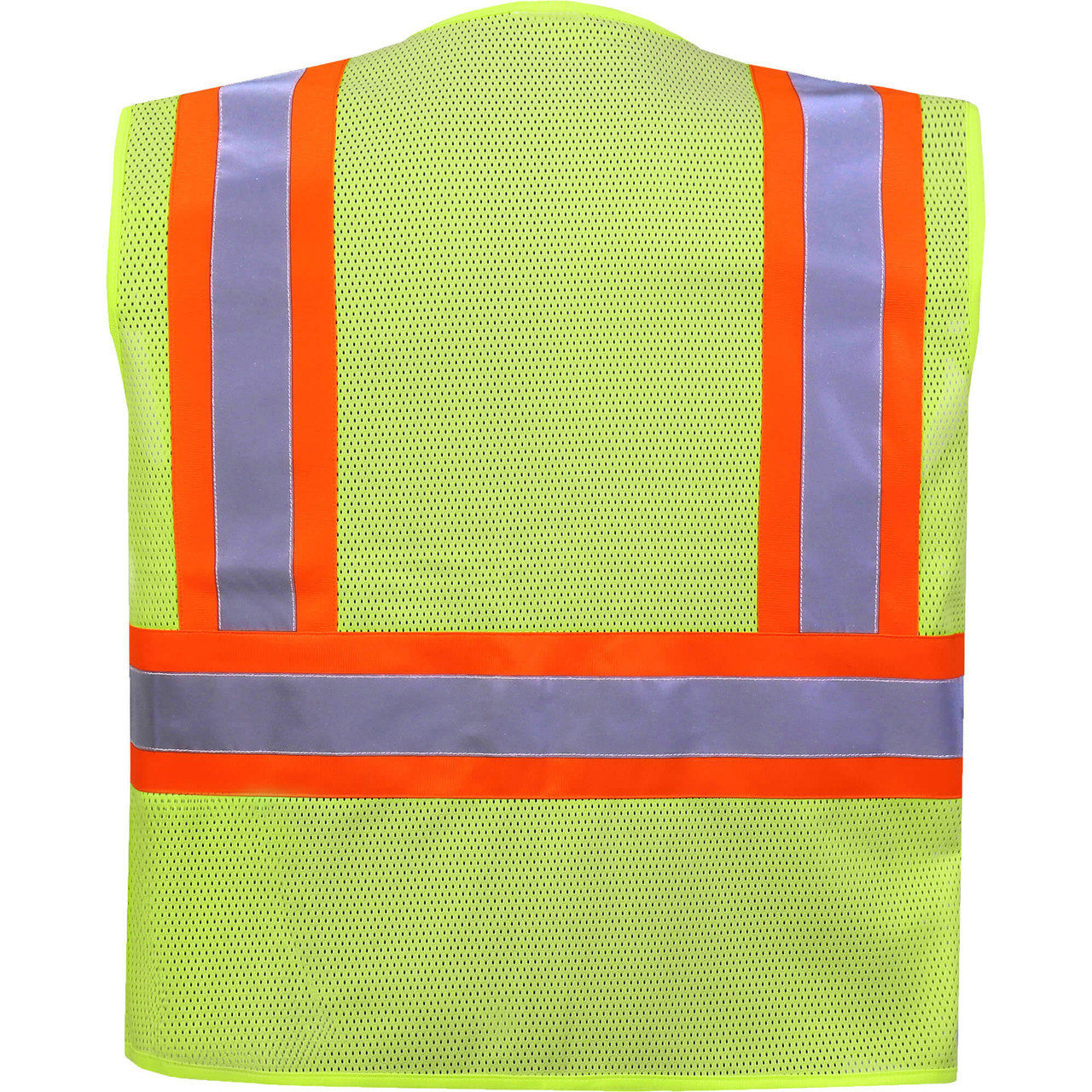 Safety Vest Back - Class 2 Two tone safety vest with pockets