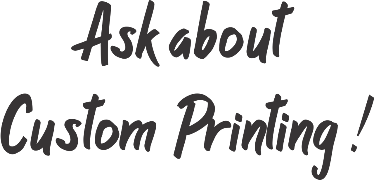 Ask About our Custom Printing.  Safety Imprints will custom print your logo on Safety Vests, Construction T Shirts, Job Site Apparel and more.