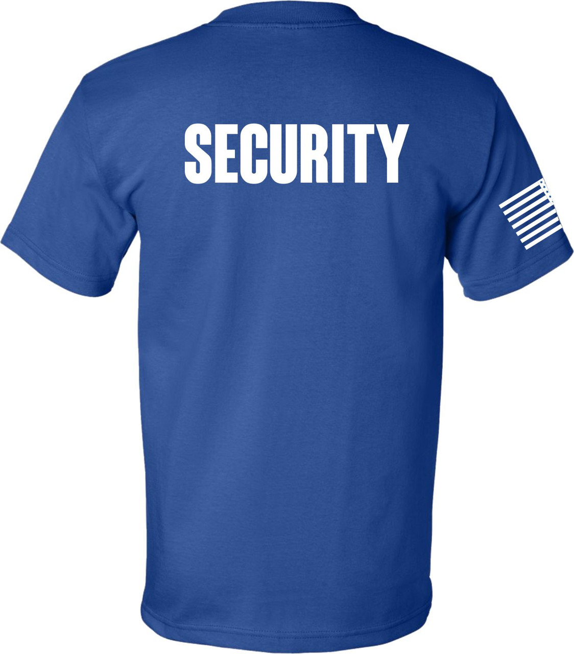 Security Shirt Made in the USA.  Proud American Flag Printed on the Right Sleeve.