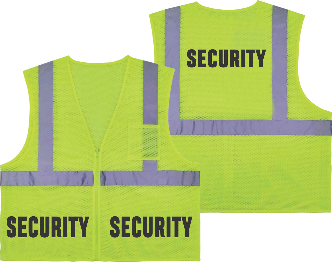 Printed SECURITY Safety Vest Class 2 - Great for Hi Vis Vest for Events