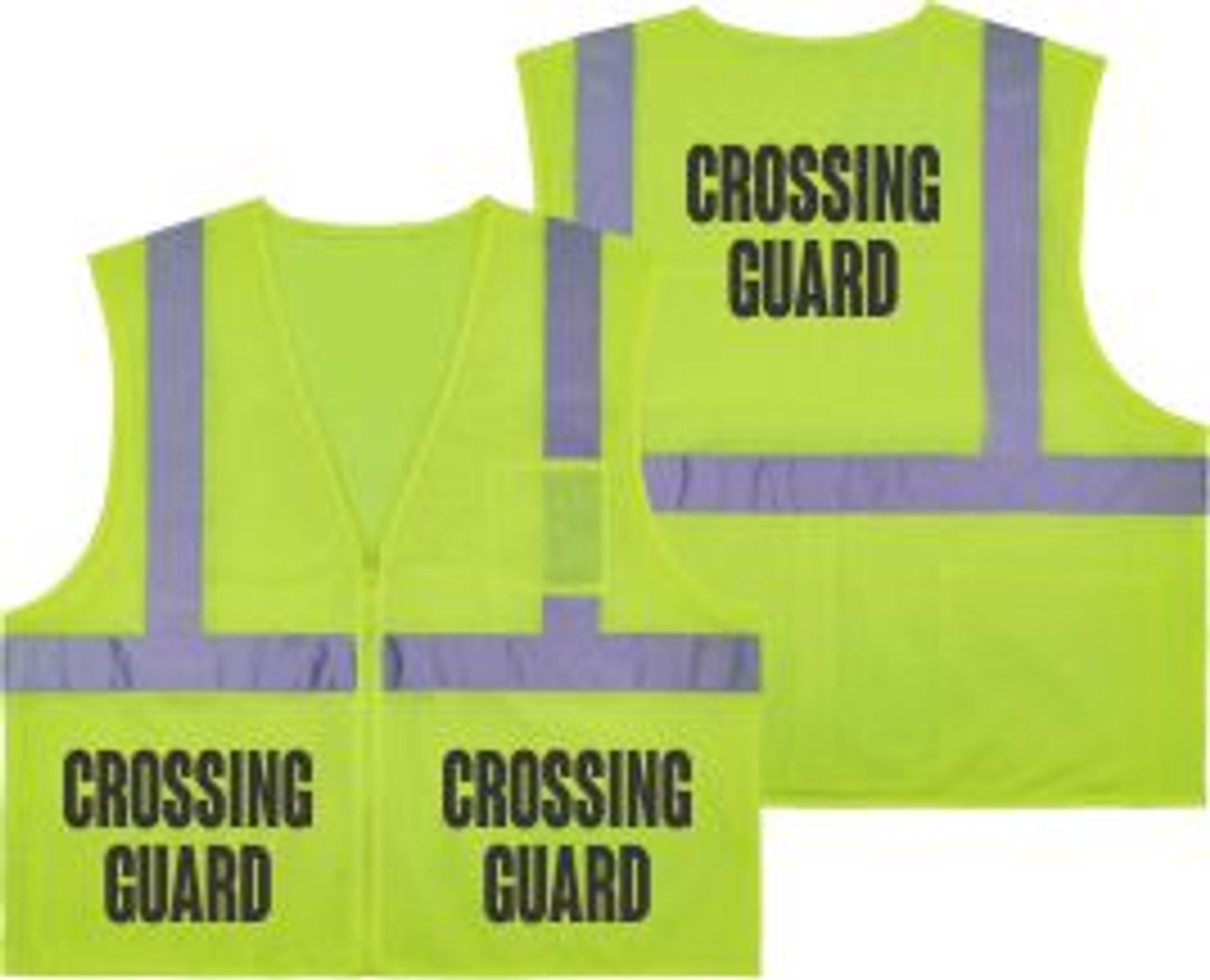 Printed CROSSING GUARD Safety Vest Class 2 - Great for Hi Vis Vest for Events