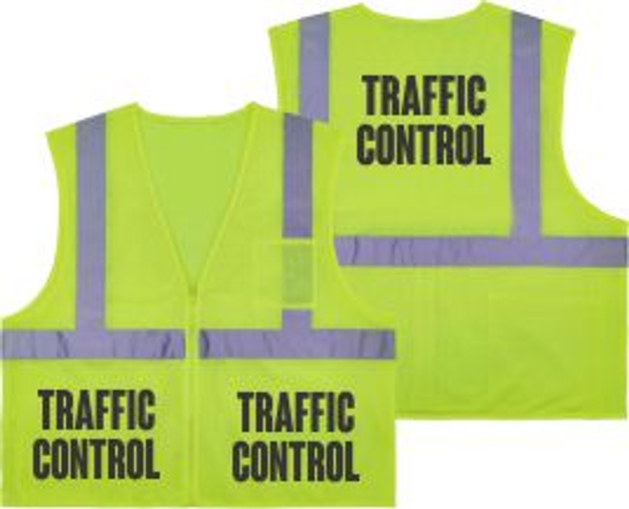 Printed TRAFFIC CONTROL Safety Vest Class 2 - Great for Hi Vis Vest for Events