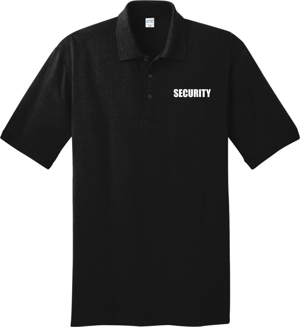 Black Security Uniform Shirt.  Great Polo Shirt for your Security Guards.