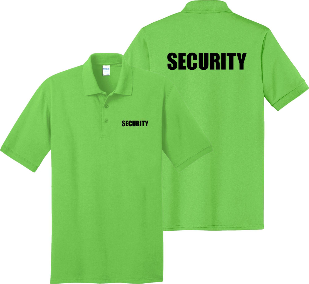 Security Staff Shirt.  Lime Security Polo Shirt