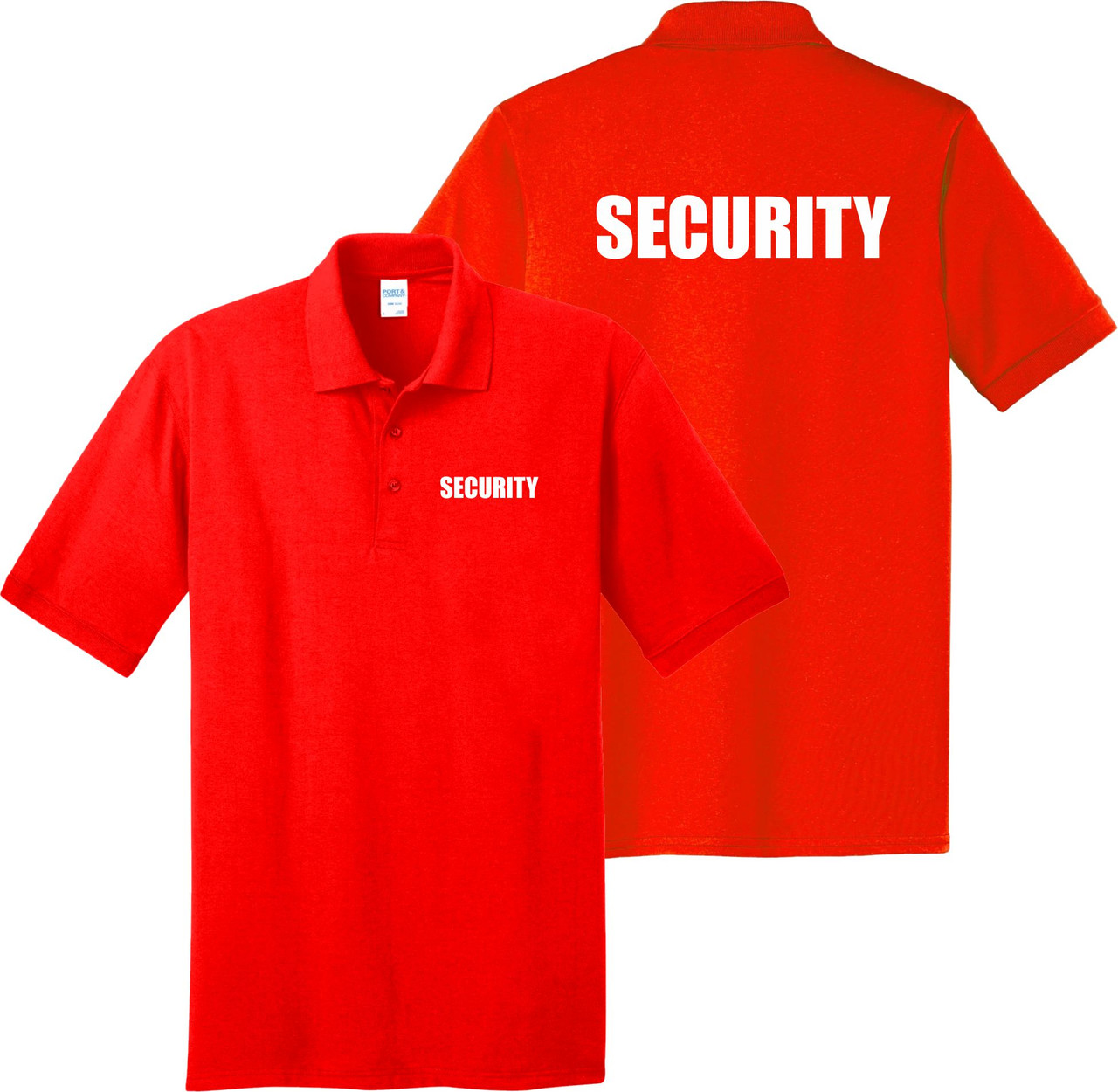 Orange Security Polo Shirt.  Great for security guard shirts.