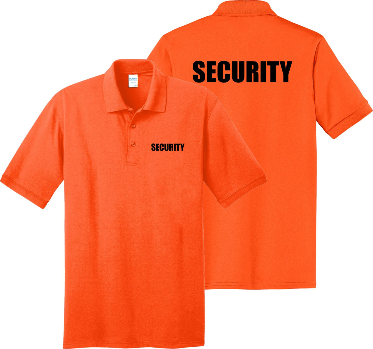Safety Orange Security Polo Shirt