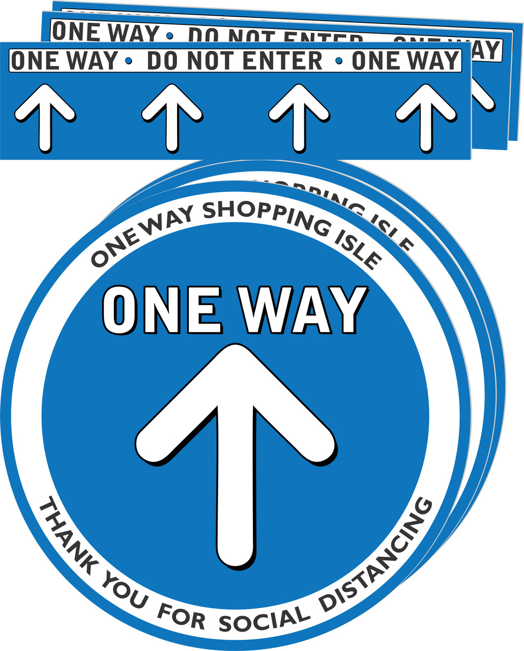One way Aisle Social Distancing Floor Decal | Covid-19 Floor Sticker | Coronavirus Floor Decal | Social Distancing Floor Sign | Pandemic Floor Sticker | Do Not Enter Floor Sticker 3 pack