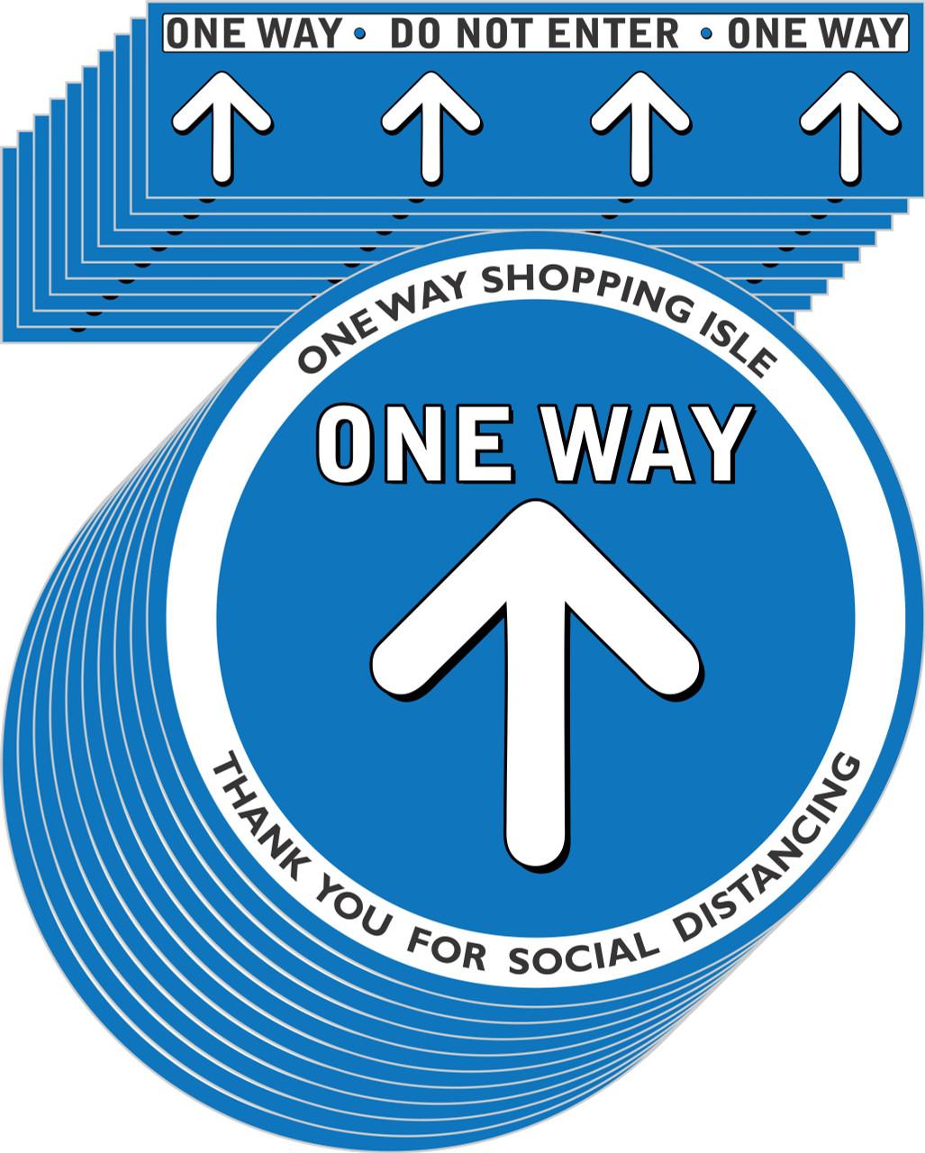 One way Aisle Social Distancing Floor Decal | Covid-19 Floor Sticker | Coronavirus Floor Decal | Social Distancing Floor Sign | Pandemic Floor Sticker | Do Not Enter Floor Sticker 10 pack