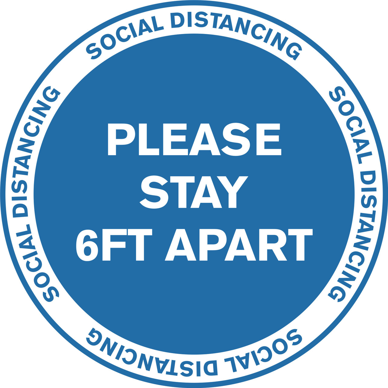 FD-X-11-6PK-99990 Work Place /& Customers / Made in The USA 6 Pack of 11 Vinyl Decal SignMission Coronavirus Social Distance Area 6 Ft Non-Slip Floor Graphic Protect Your Business