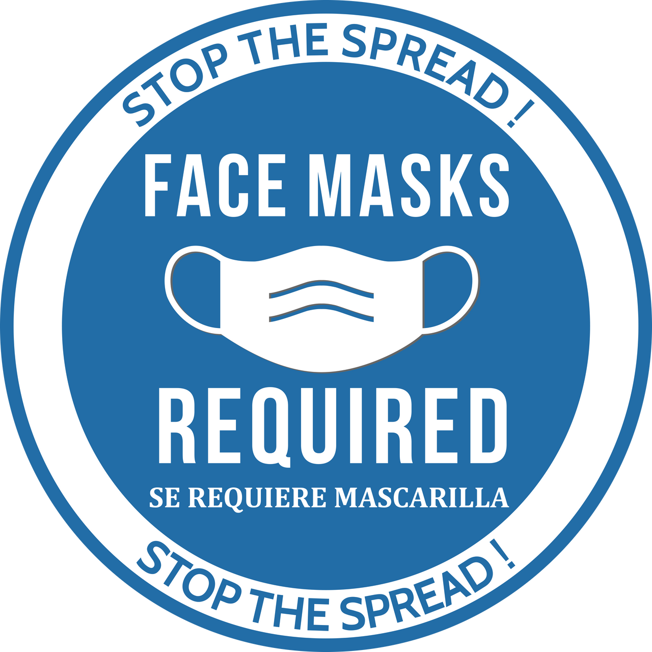 Face Mask Required Floor Decal | Covid-19 Floor Sticker | Coronavirus Floor Decal | Social Distancing Floor Sign | Pandemic Floor Sticker Decal