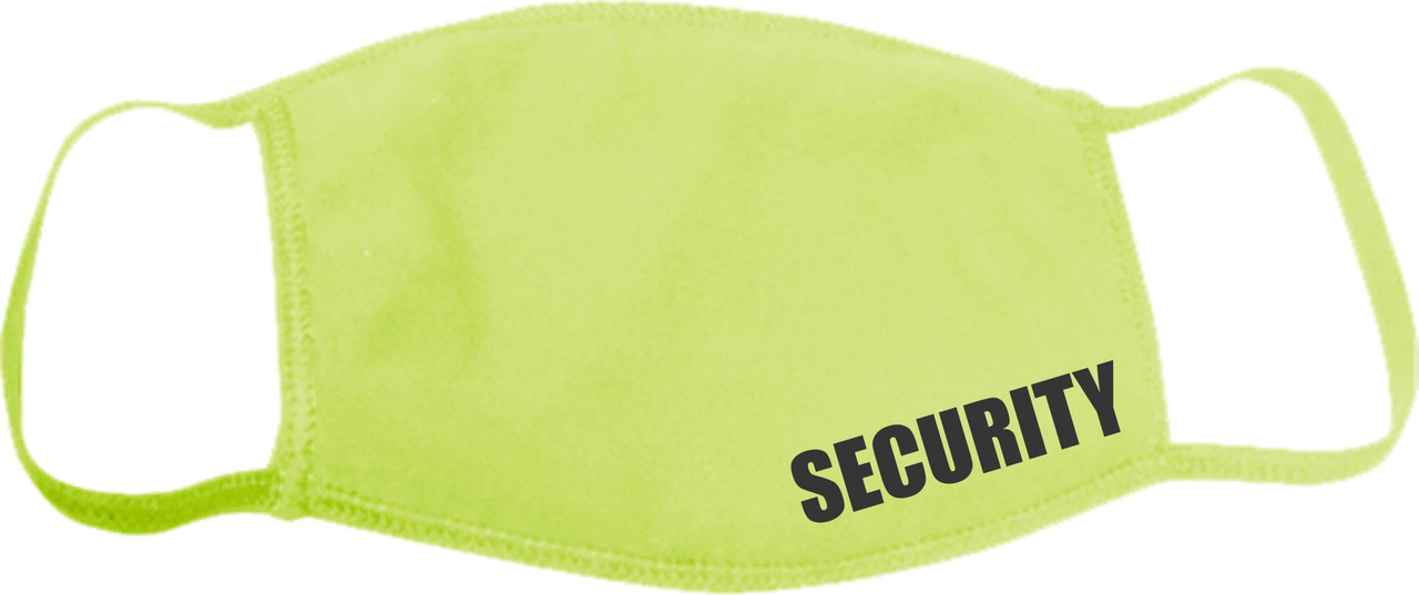 Security Guard Face Mask Safety Green, Face Covering