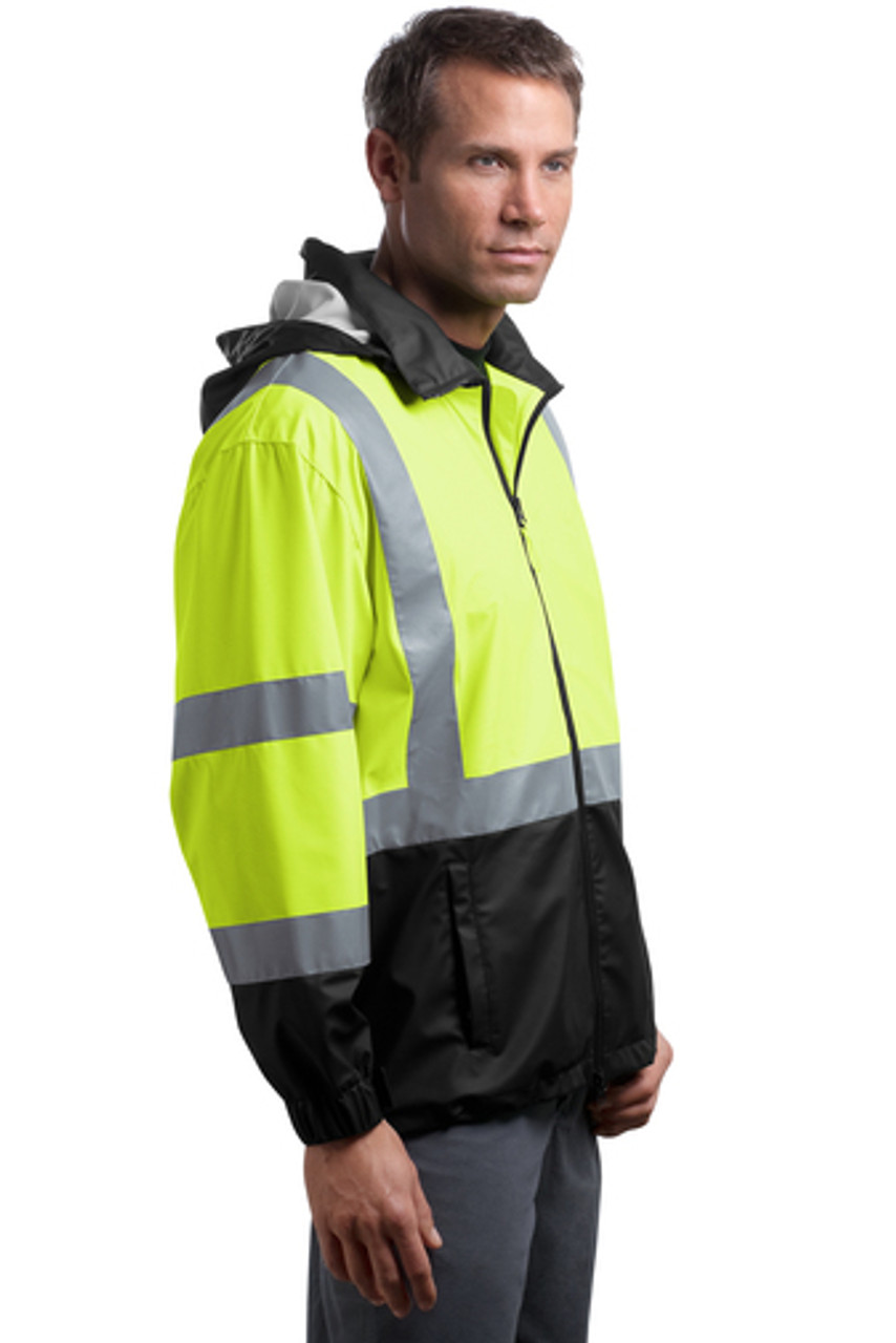 Safety Windbreaker Jacket with Reflective Taping Class 3