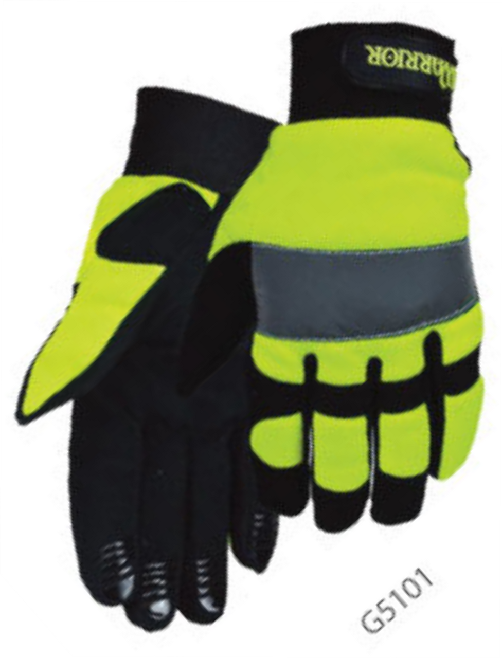 Safety Yellow Lime Mechanics Gloves
