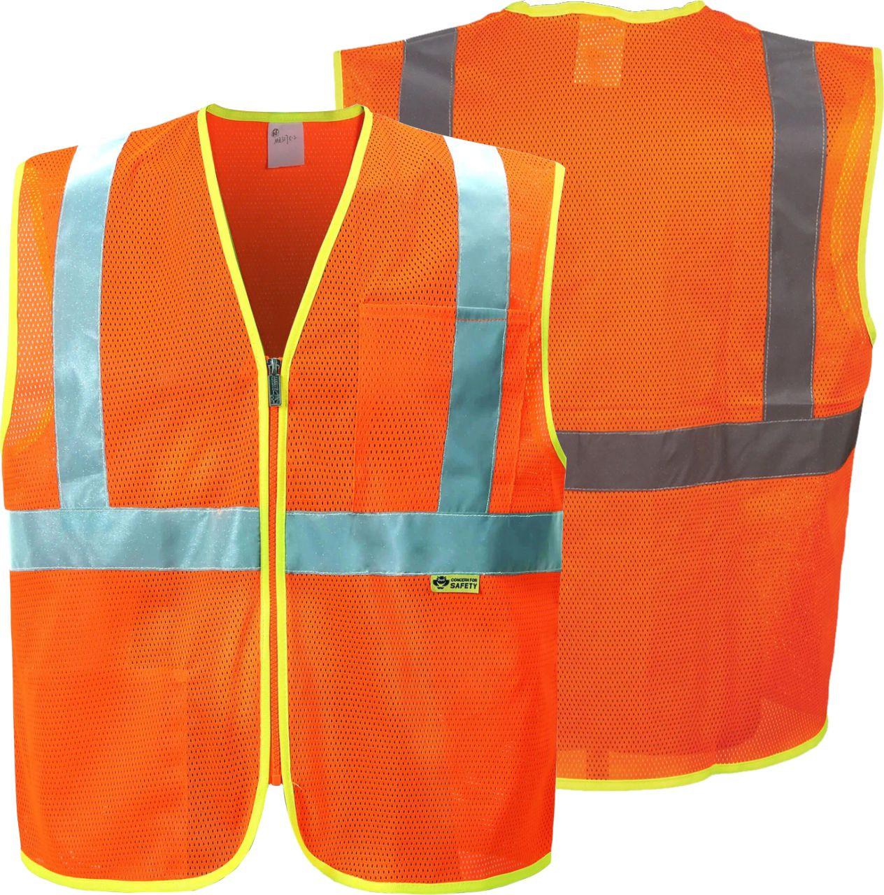 Safety Orange Safety Vest Class 2 | Best Class 2 Safety Vest