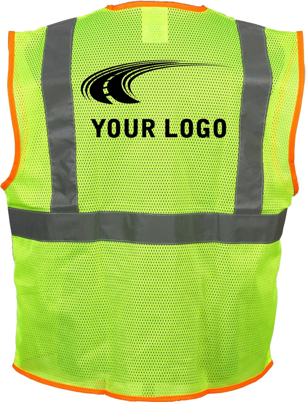 Class 2 Safety Vest with Logo | Custom Printed Safety Vest |  Mesh Safety Vest with Logo