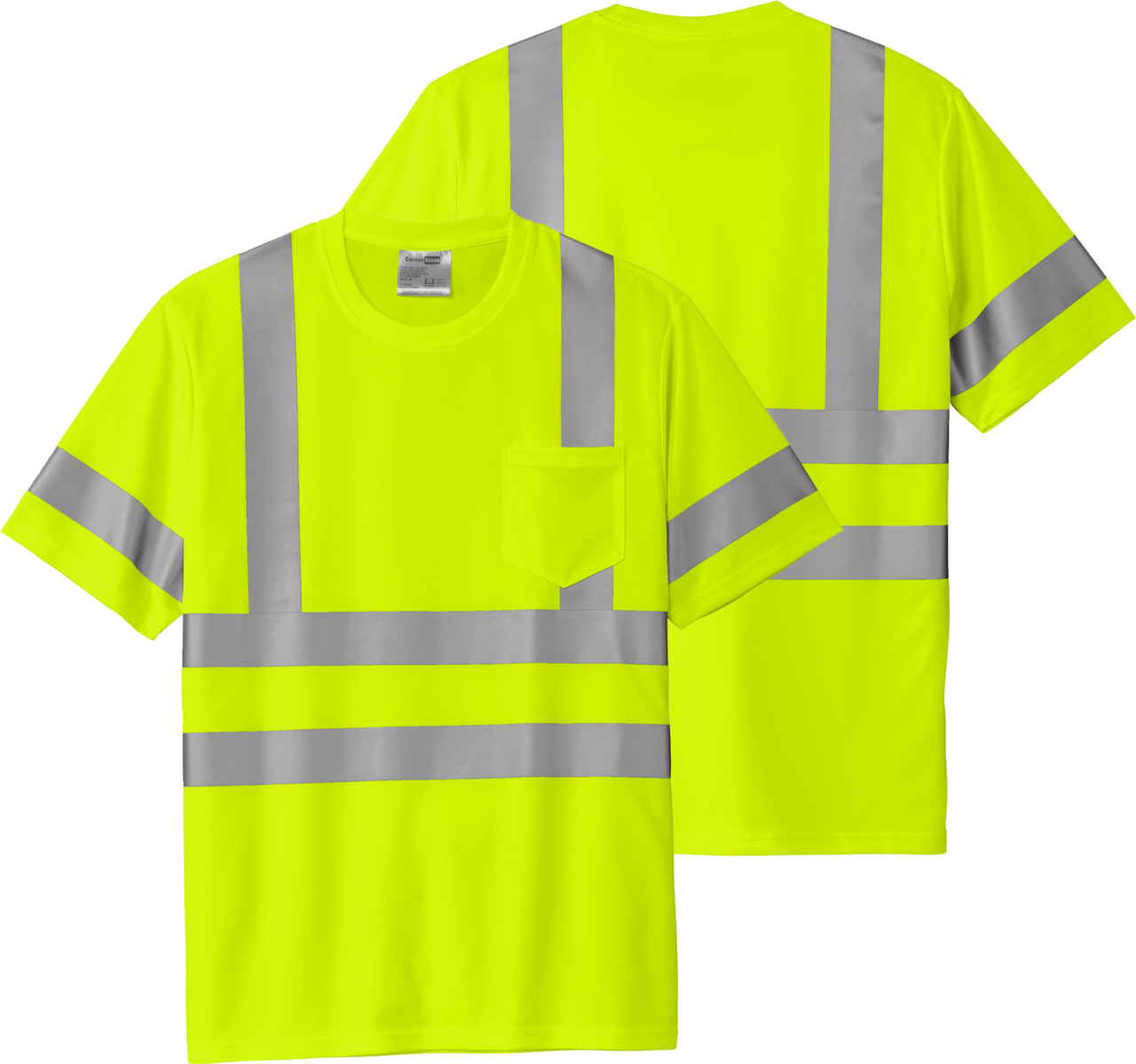 Safety Yellow Class 3 Reflective Tshirt 100% Polyester   Safety Green Class 3 Reflective Tshirt 100% Polyester