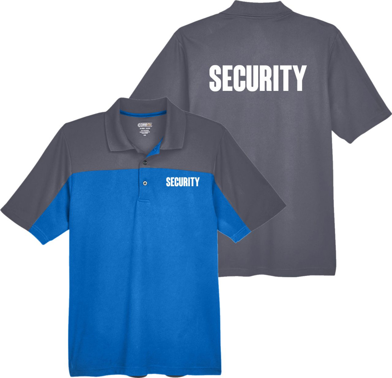Royal Blue and Grey Security Polo