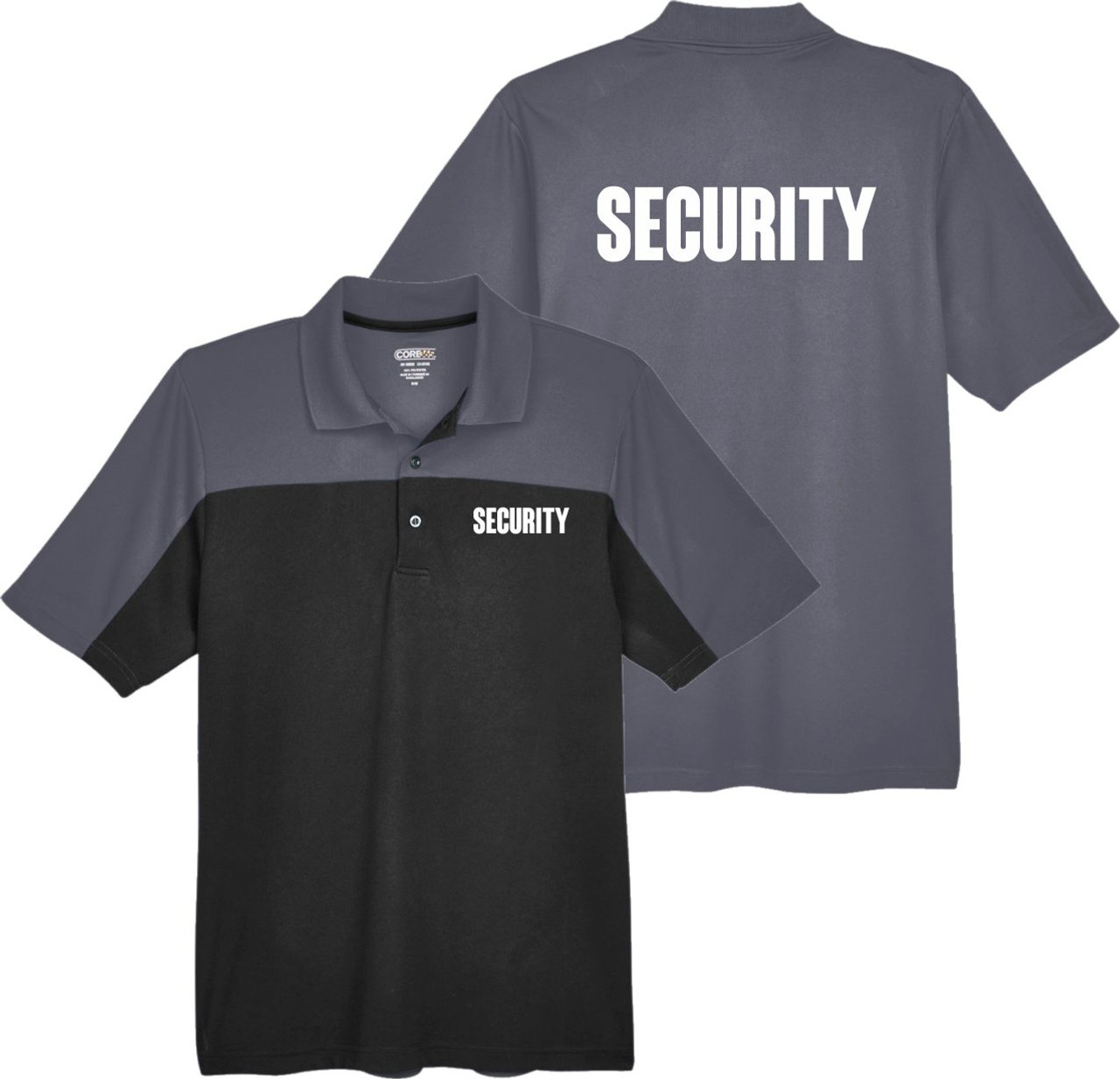 Black and Grey Security Polo