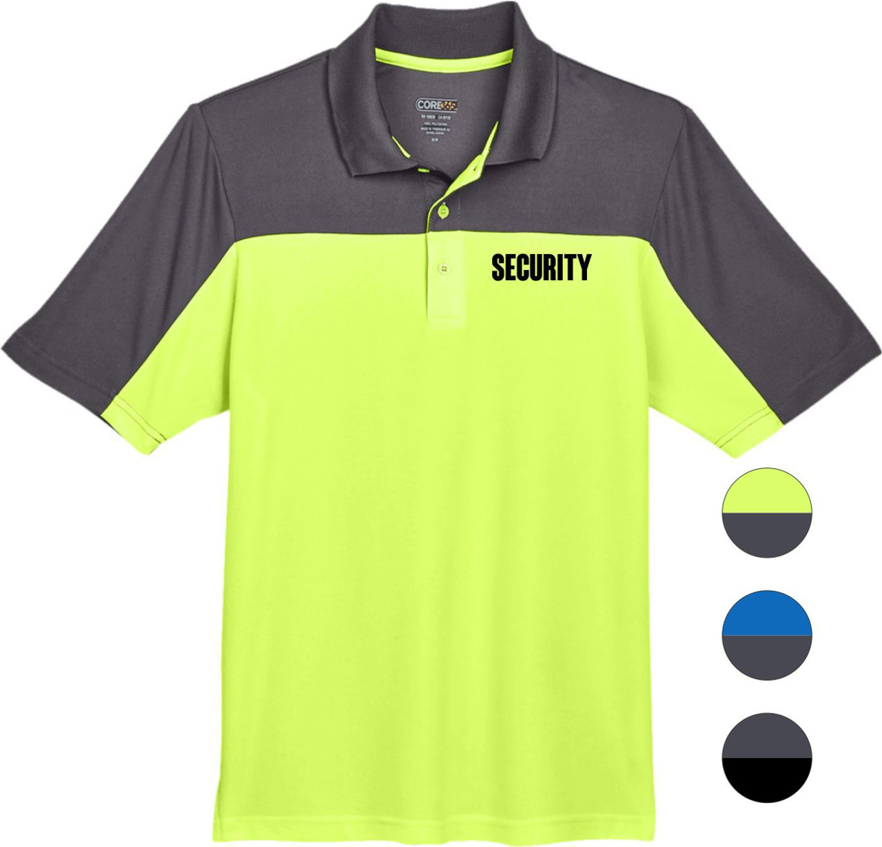 Colorblock Security Polo with UV Protection