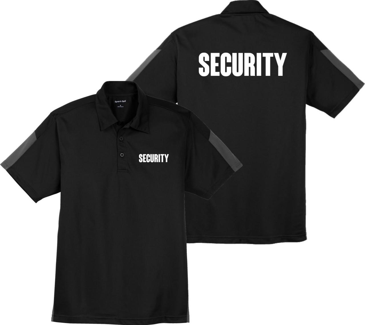 Black Security Polo