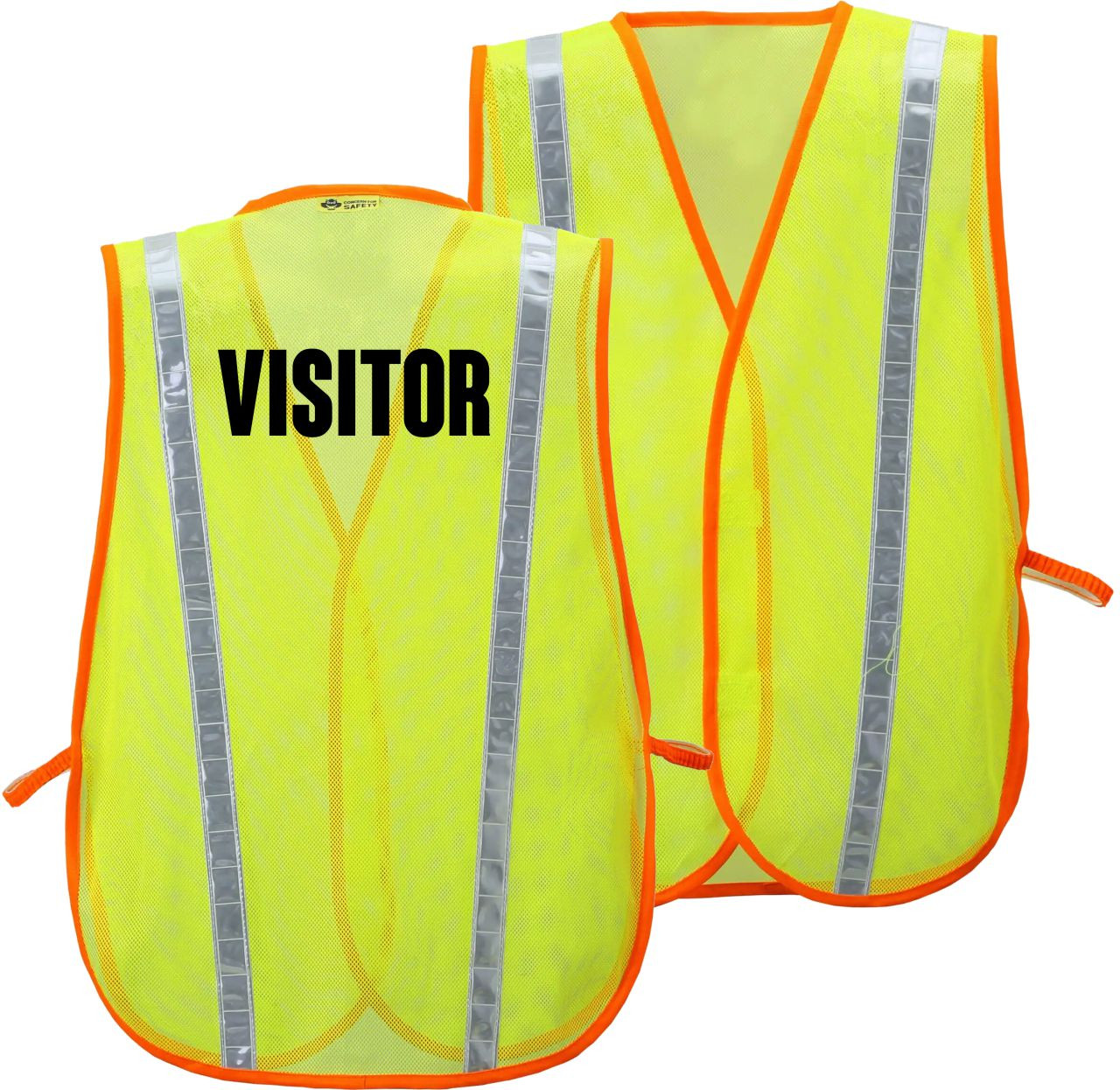 VISITOR Printed on A Class 2 Safety Vest
