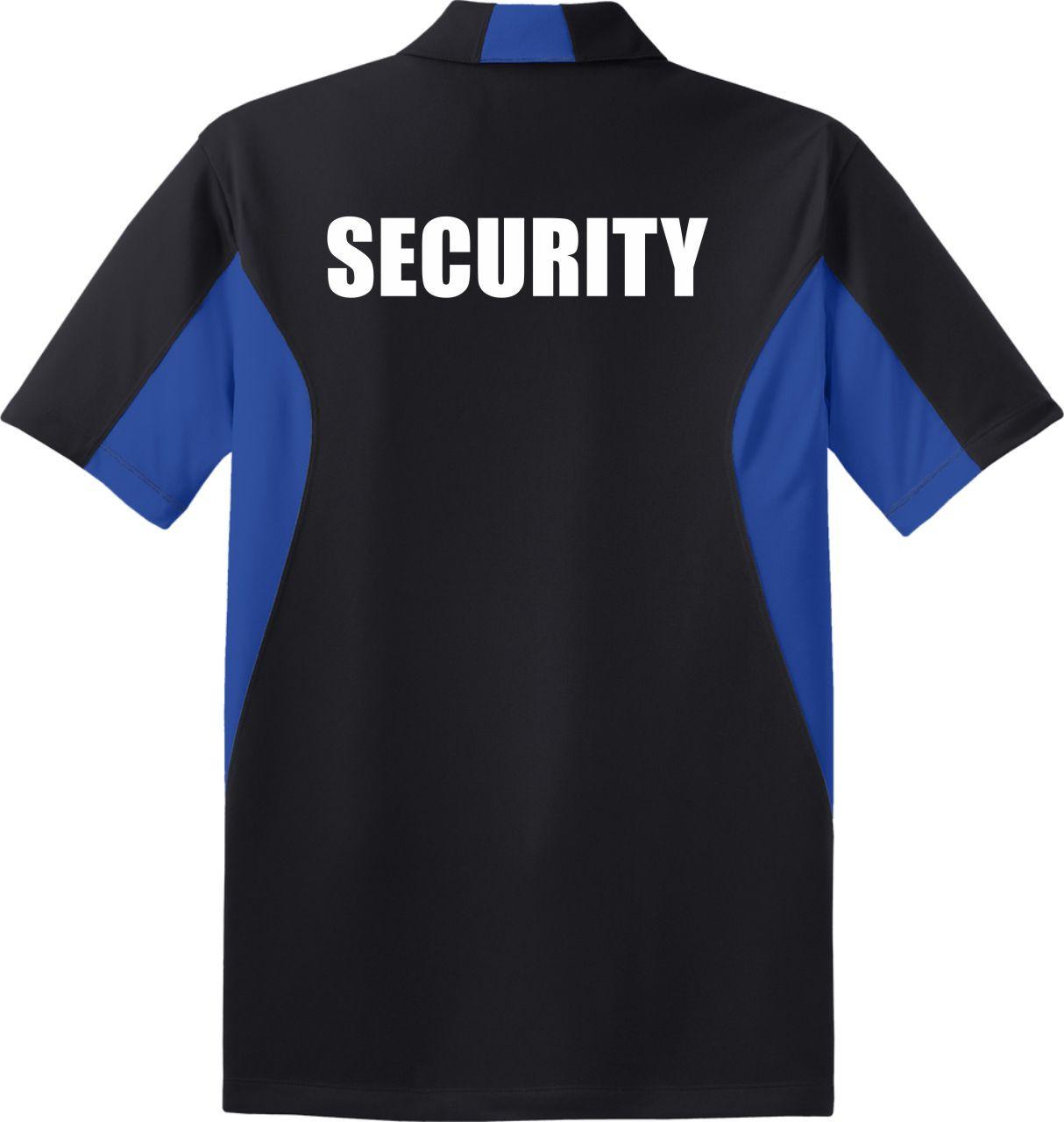 Black Royal Blue Security Polo Uniform Shirt