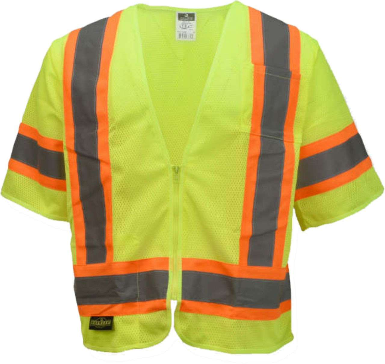 Safety Green 3 Tone Class 2 Safety Vest
