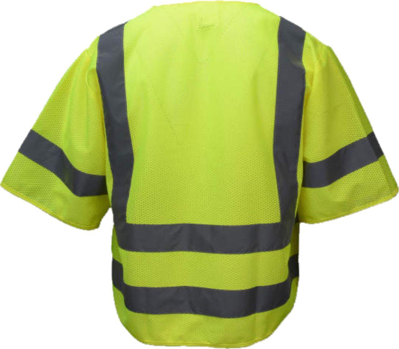 ANSI Class 3 Safety Green Safety Vest