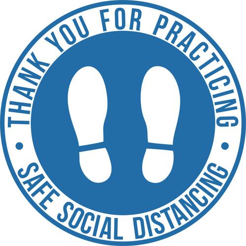 SOCIAL DISTANCING FLOOR STICKER GRAPHIC NON SLIP