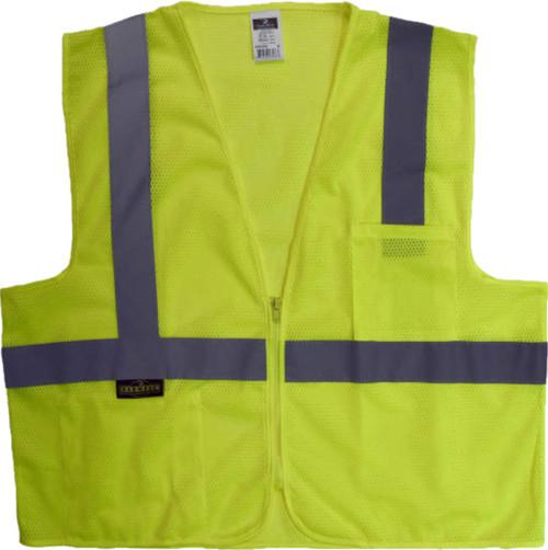 SV2 Safety Green Safety Vest   Safety Green Class 2 Safety Vest   Lime Safety Jacket