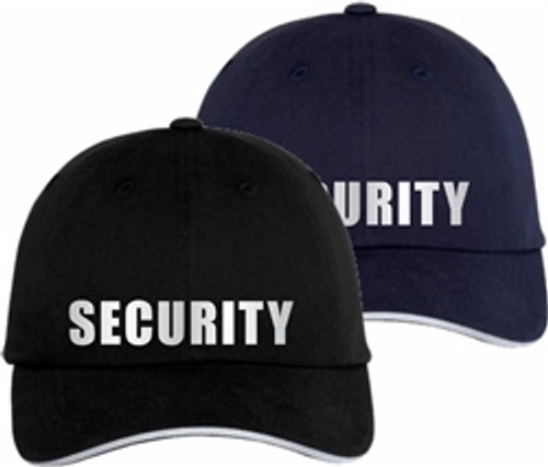 Reflective Security Cap     Security Guard Reflective Sandwich Bill Cap   Security Guard Hat   Security Uniform Hat