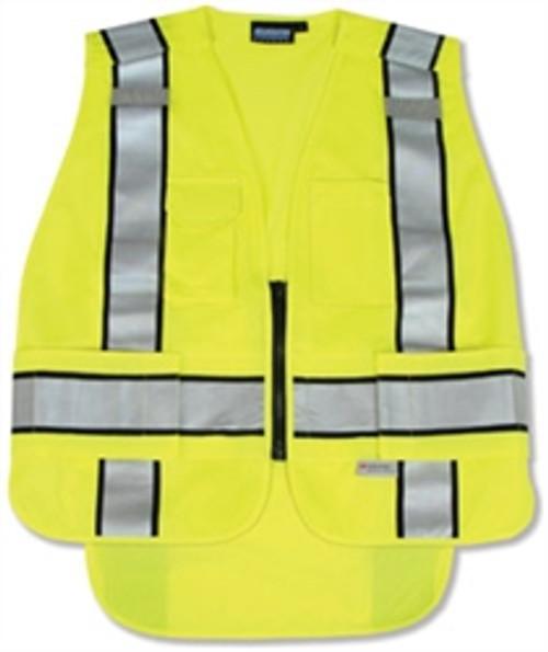 5 Point Break-Away ANSI 207 Public Safety Vest Yellow - ERB S368