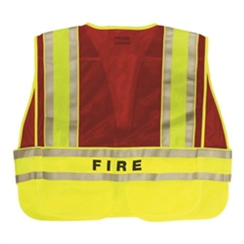FIRE Split Tape Incident Command Vest