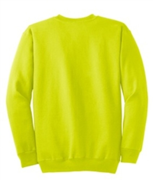 Safety Green Fleece Crewneck Sweatshirt *Custom Printing Available*