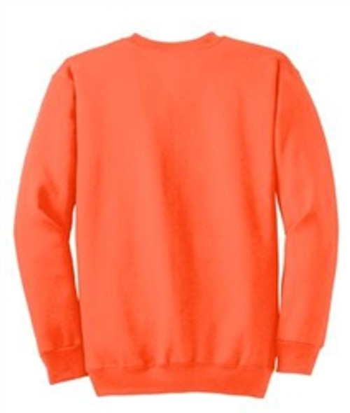 Safety Orange Fleece Crewneck Sweatshirt *Custom Printing Available*