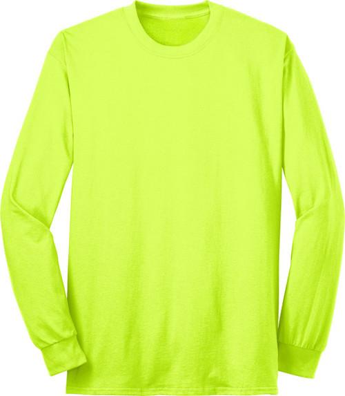 Safety Green Long Sleeve TShirt | Hi Vis Work Shirt Long Sleeve