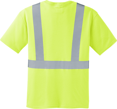 Safety Green Class 2 T Shirt with Pocket